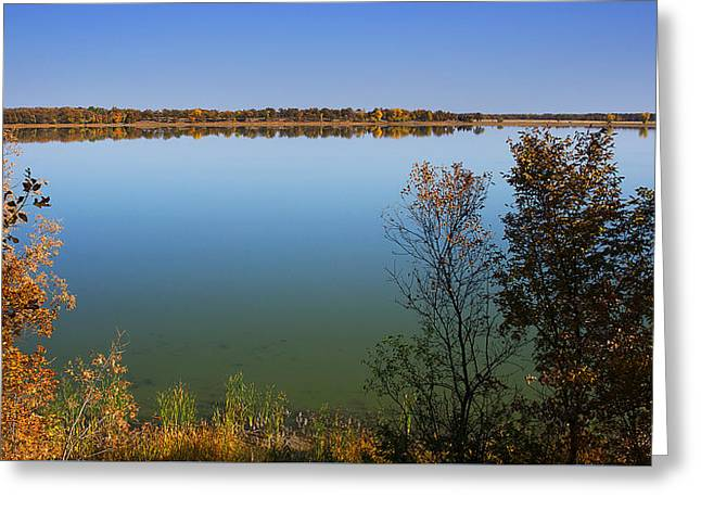 Fall River Scenes Greeting Cards - Calm Lake Greeting Card by Donald  Erickson