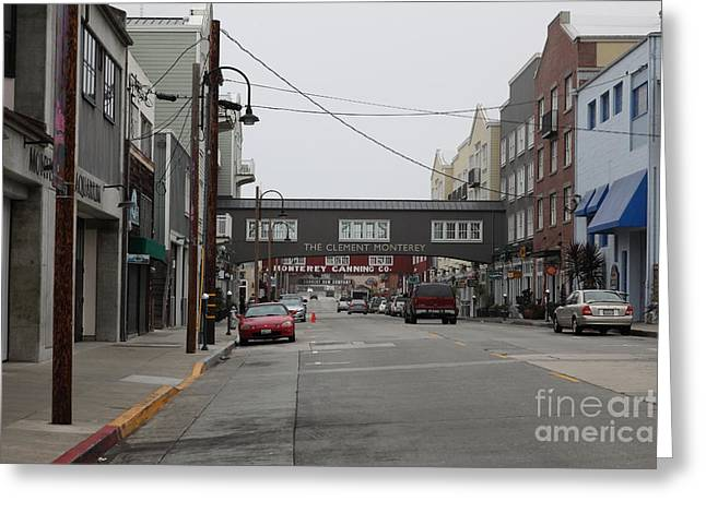 Monterey Canning Company Greeting Cards - Calm Morning At Monterey Cannery Row California 5D24761 Greeting Card by Wingsdomain Art and Photography
