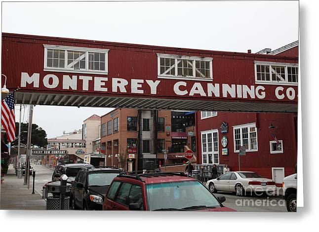 Monterey Canning Company Greeting Cards - Calm Morning At Monterey Cannery Row California 5D24763 Greeting Card by Wingsdomain Art and Photography