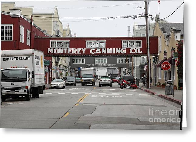 Monterey Canning Company Greeting Cards - Calm Morning At Monterey Cannery Row California 5D24773 Greeting Card by Wingsdomain Art and Photography