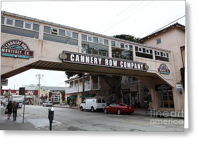 Monterey Canning Company Greeting Cards - Calm Morning At Monterey Cannery Row California 5D24780 Greeting Card by Wingsdomain Art and Photography