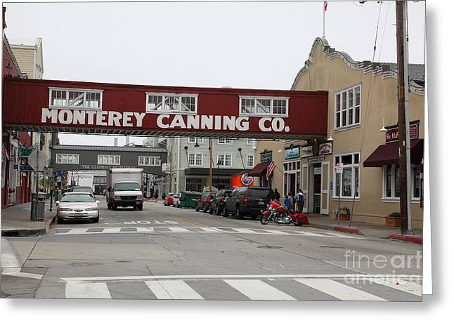 Monterey Canning Company Greeting Cards - Calm Morning At Monterey Cannery Row California 5D24781 Greeting Card by Wingsdomain Art and Photography