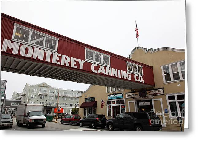 Monterey Canning Company Greeting Cards - Calm Morning At Monterey Cannery Row California 5D24782 Greeting Card by Wingsdomain Art and Photography