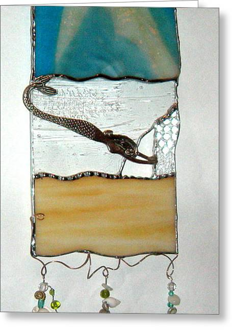 Sand Glass Greeting Cards - Calm Greeting Card by Nora Solomon