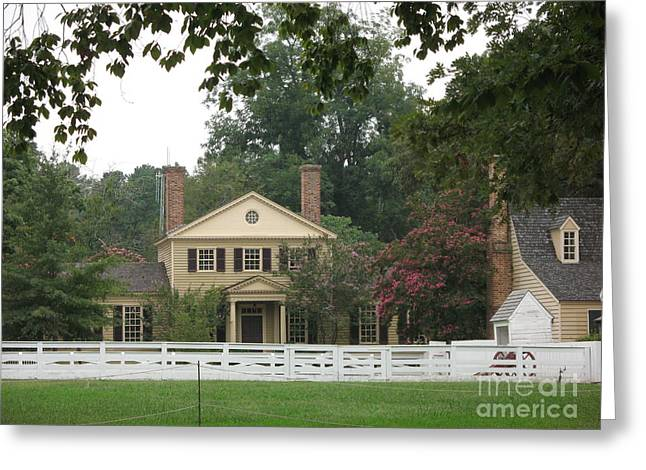 Calm Place In Colonial Williamburg Greeting Card by Christiane Schulze Art And Photography