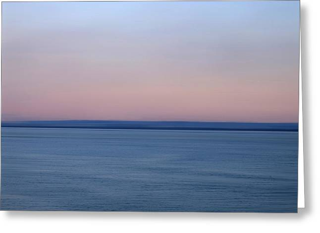 Calm Sea Greeting Card by Bernard Jaubert