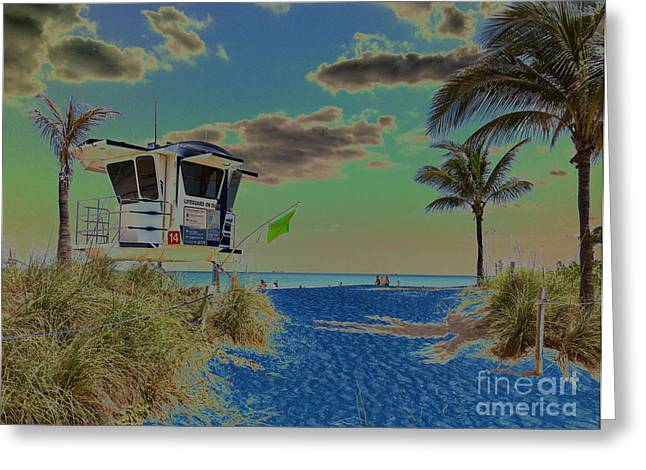 Danielle Perry Greeting Cards - Calm Seas on the Horizon Greeting Card by Danielle  Perry