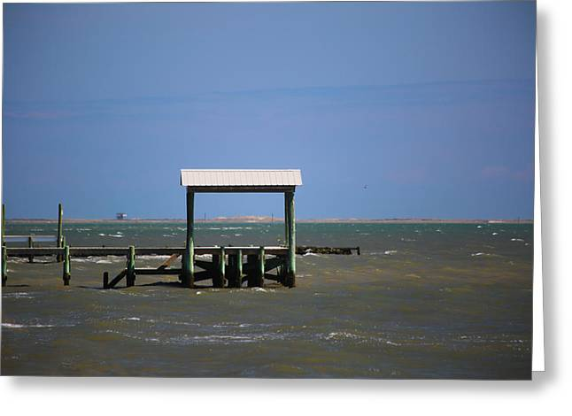 Hunting Cabin Greeting Cards - Calm Seas Greeting Card by Paula OMalley