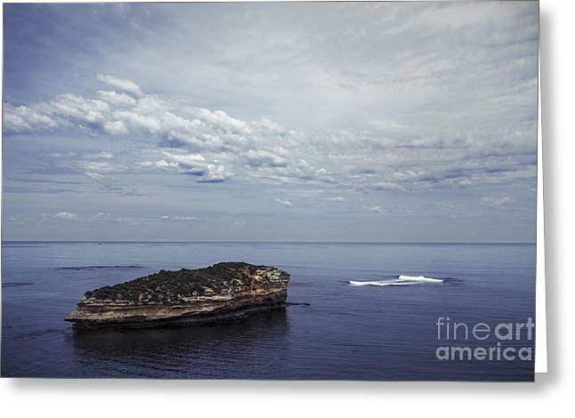 Ocean Landscape Greeting Cards - Calm Seclusion Greeting Card by Andrew Paranavitana