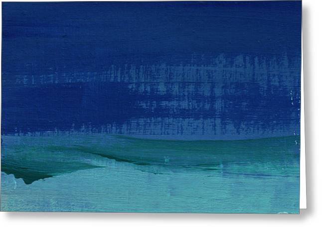 Calm Waters- Abstract Landscape Painting Greeting Card by Linda Woods