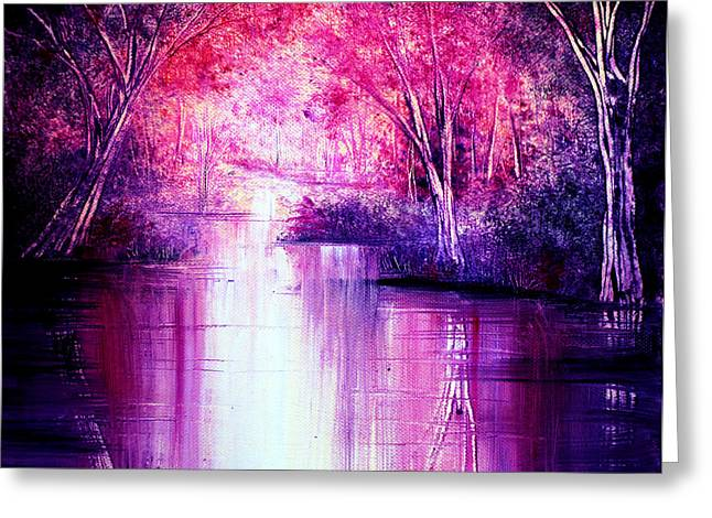 Kinkade Greeting Cards - Calm Waters Greeting Card by Ann Marie Bone