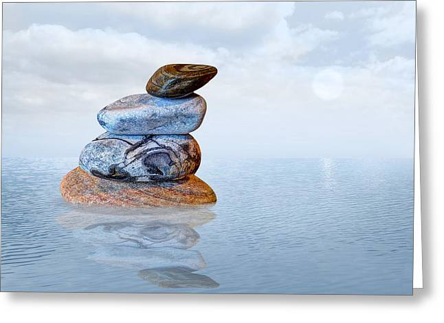 Balance In Life Greeting Cards - Calm Waters Greeting Card by Gill Billington