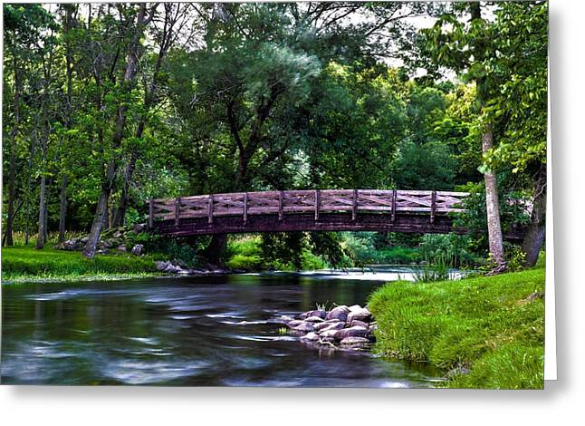 Covered Bridge Greeting Cards - Calm Waters Greeting Card by James  Meyer