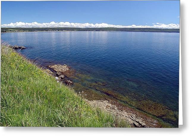 Minas Basin Greeting Cards - Calm Waters Greeting Card by Janet Ashworth
