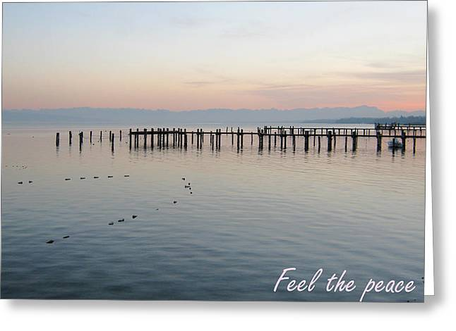 Calm Your Mind And Feel The Peace Greeting Card by Heidi Sieber
