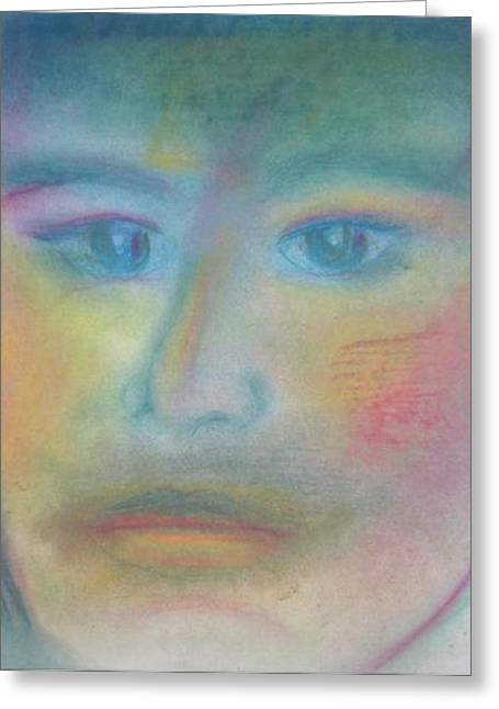 Controlled Pastels Greeting Cards - Calmness Greeting Card by Lisa Bowyer