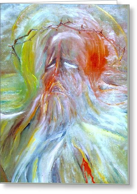 Torment Paintings Greeting Cards - Calvary Greeting Card by Henryk Gorecki