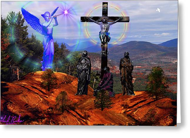 King James Version Greeting Cards - Calvary Greeting Card by Michael Rucker