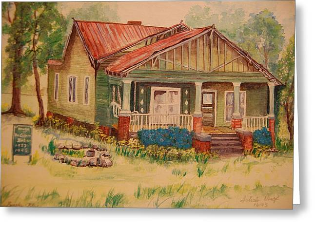 Old Home Place Paintings Greeting Cards - Calvin Baber House Greeting Card by Lynn Beazley Blair