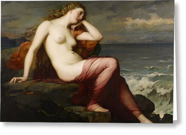 Erotica Greeting Cards - Calypso Greeting Card by Karl Ernest Rudolf Heinrich Salem