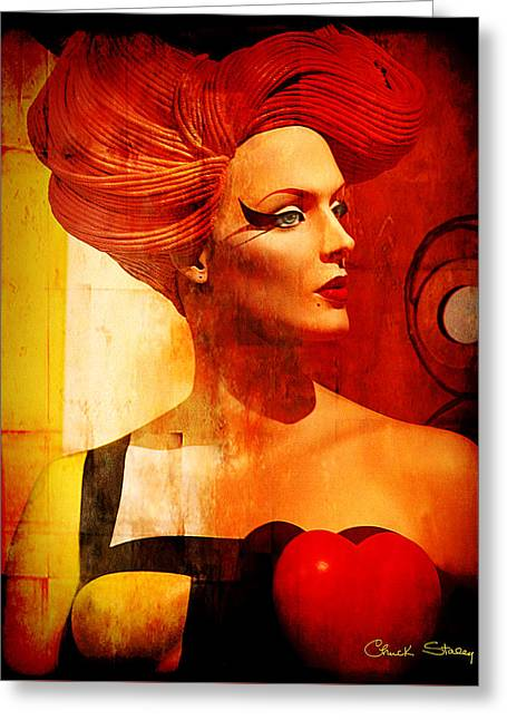 Staley Art Mixed Media Greeting Cards - Calypso Mama Greeting Card by Chuck Staley