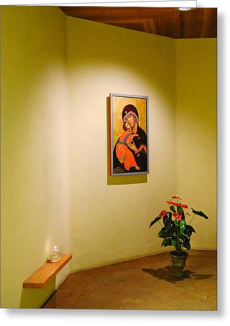 """""""prayer Room"""" Greeting Cards - Camaldoli Monastery Prayer room Greeting Card by Jeff Black"""