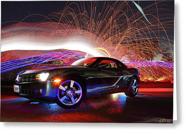 Sup Greeting Cards - Camaro Greeting Card by Andrew Nourse