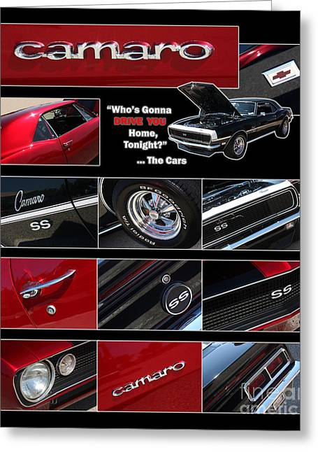 Gingrich Photo Greeting Cards - Camaro-Drive - Poster Greeting Card by Gary Gingrich Galleries