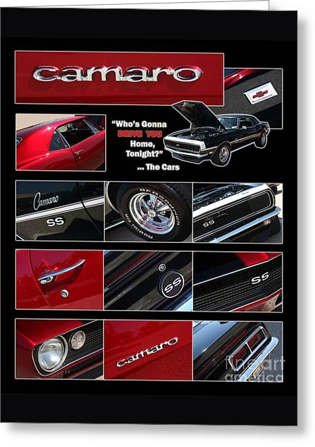 Gingrich Photography Digital Greeting Cards - Camaro-Drive - Poster Greeting Card by Gary Gingrich Galleries