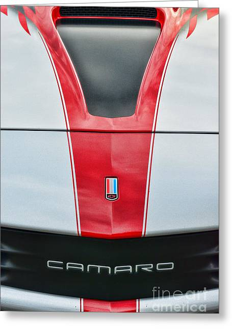 Dealership Greeting Cards - Camaro Greeting Card by Paul Ward