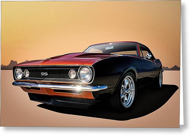 Garage Greeting Cards - Camaro SS Greeting Card by Douglas Pittman