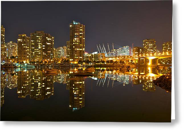 Cambie Bridge Greeting Cards - Cambie Bridge Greeting Card by Peter Boyer