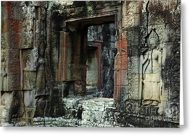 Ta Prohm Greeting Cards - Cambodia Angkor Wat 4 Greeting Card by Bob Christopher