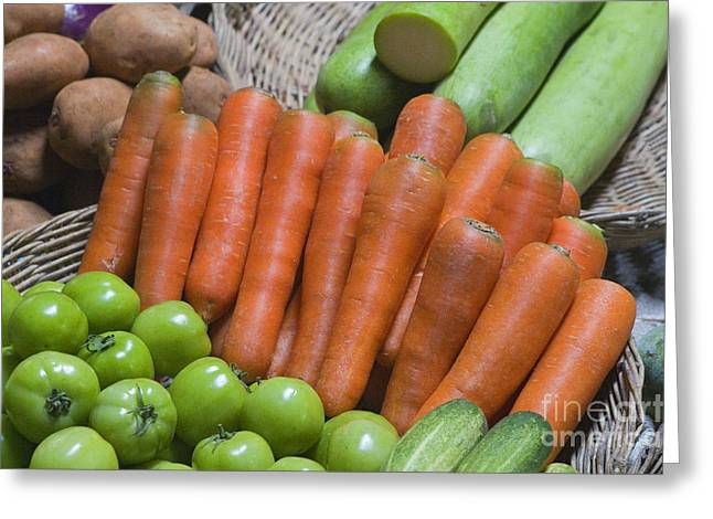 Cambodian Carrots Greeting Card by Craig Lovell