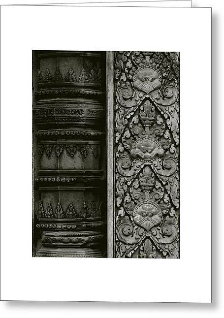 Temple Of Ta Prohm Greeting Cards - Cambodian Style Greeting Card by Don Saunderson