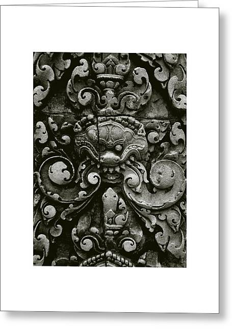 Temple Of Ta Prohm Greeting Cards - Cambodian Style II Greeting Card by Don Saunderson