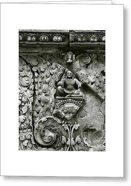 Temple Of Ta Prohm Greeting Cards - Cambodian Style III Greeting Card by Don Saunderson