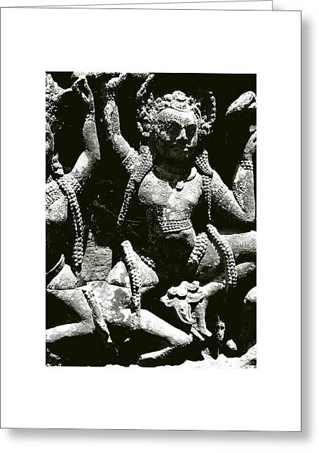 Temple Of Ta Prohm Greeting Cards - Cambodian Style IV Greeting Card by Don Saunderson