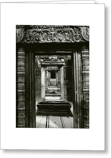 Temple Of Ta Prohm Greeting Cards - Cambodian Temple Greeting Card by Don Saunderson
