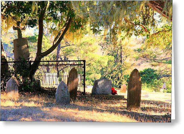 Cambria Greeting Cards - Cambria 1870 Cemetery Greeting Card by Tap  On Photo