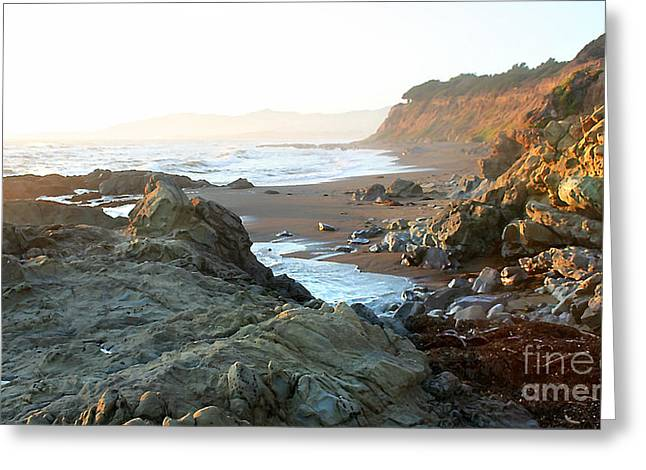 Cambria Greeting Cards - Cambria Coastal View Greeting Card by Michael Rock