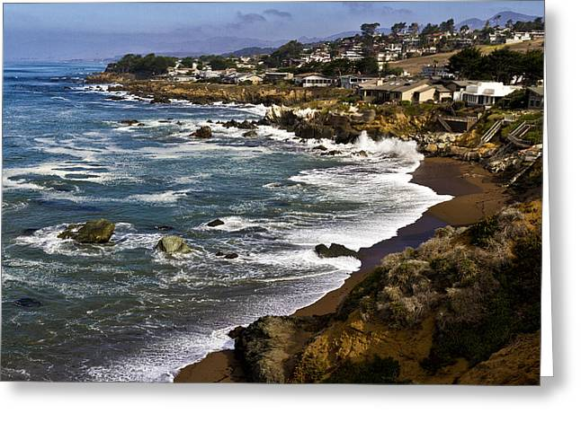Cambria Greeting Cards - Cambria Coastline Greeting Card by Robert Woodward
