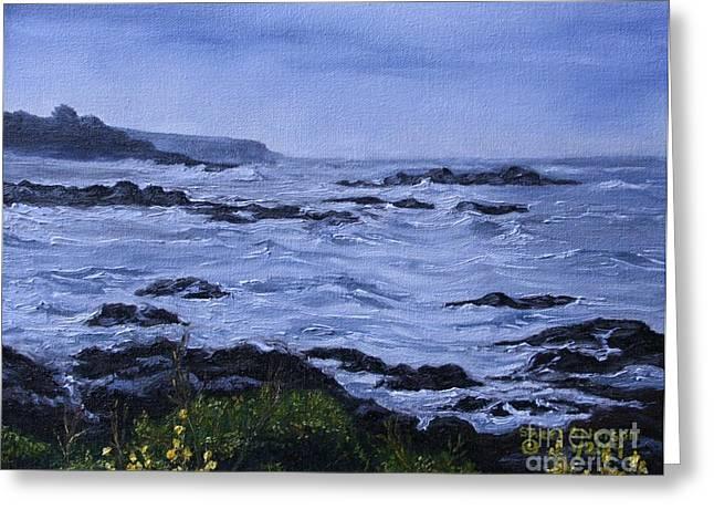 Cambria Greeting Cards - Cambrias Coastal Rain Greeting Card by Sheri Stimson