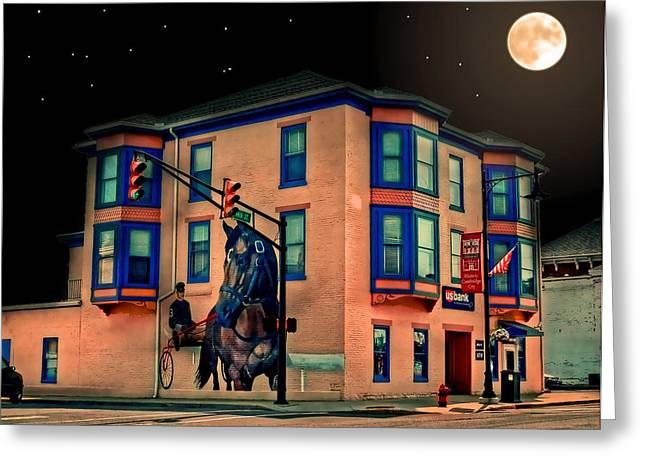Sean Horse Greeting Cards - Cambridge City at Night Greeting Card by Mark Orr