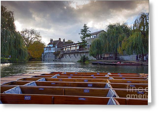 Cambridge River Greeting Card by Svetlana Sewell