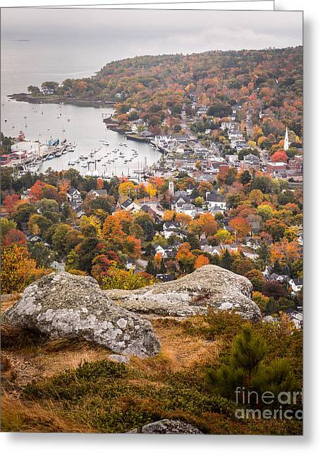 Foliage Image Greeting Cards - Camden from Mount Battie Greeting Card by Benjamin Williamson