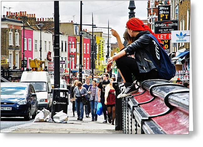 Camden Town Group Greeting Cards - Camden Grunge Greeting Card by Keith Armstrong