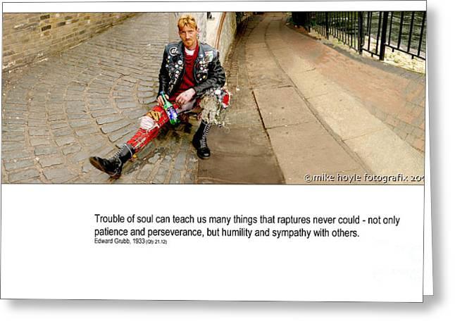 Street Drinker Digital Art Greeting Cards - Camden Lock Path Greeting Card by Mike Hoyle