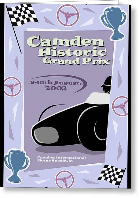 Rally Greeting Cards - Camden Tennessee Grand Prix Greeting Card by Nomad Art And  Design