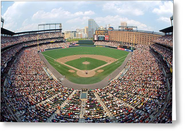 Compete Photographs Greeting Cards - Camden Yards Baltimore Md Greeting Card by Panoramic Images